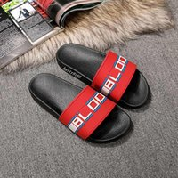 Wholesale male flip flops for sale - Group buy Hot Sale Mens stripe slide Sandals with Molded rubber footbed male female beach flip flops