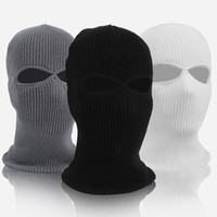 Wholesale winter full face cycling mask for sale - Group buy Winter Motion Ski Hat Men And Women Cycling Mask Full Face Wind Proof Headgear Fleece Blue Black MMA2158