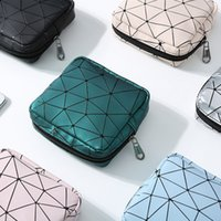 Wholesale clear mini cosmetic bags resale online - Fashion Mini Portable Cosmetic Bag Organizer Holder Small Makeup Travel Storage Beauty Wash PU Waterproof Zipper Women Girl Box