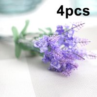 Wholesale flower gifts uk for sale - Group buy Artificial Lavender Flower Leaves Bouquet Home Wedding Garden Decoration Gift UK