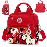 bebek bez çantası tasarımları toptan satış-Bolsos Anne Organizatör Tasarım Nappy Çantalar Anne Için Moda Anne Doğum Çantası Arabası Bebek Çantaları Messenger Küçük Bezi Çantası