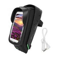 phone holder bicycle toptan satış-Bisiklet Bisiklet Ön Çerçeve Çanta Bisiklet Telefon Tutucu Çanta Su Geçirmez Bisiklet Durumda Kutusu için 6 inç Telefon GPS