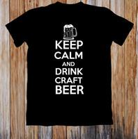 bira şapkasını iç toptan satış-Sakin ol Ve İçecek Zanaat Bira Unisex T Gömlek Cattt Rüzgarlık Pug Tişört Takım Şapka Pembe T-shirt