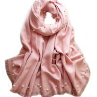 f2dfc0917b5 cachemira de color rosa caliente al por mayor-Venta caliente Nueva Pink  Beads sólido de