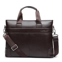 shouler handtaschen großhandel-Mode Handtasche Männer Aktentasche herren Business Bag Pu-leder Laptoptasche Luxus Designer Männlichen Shouler Messager Taschen Männer Tragetaschen # 483026