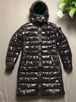 ingrosso giacca lusso-Cappotto da donna di design Giacca invernale antivento di lusso tinta unita lunga moda tinta unita per donna 2019 Nuovo.