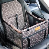 esteiras do carro do cão venda por atacado-Duplo Grosso Acessórios de Viagem Malha Hanging Bags Dobrável Pet Suprimentos Mochila Tapete de Cão À Prova D 'Água Safety Pet Car Seat Bag