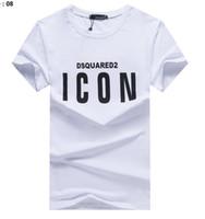 nouvelles chemises de créateurs de mode pour hommes achat en gros de-Nouveau DS2 marques ICON Canada T-shirt imprimé shirt Europe Mode homme homme Designers femmes hommes hommes streetwear 't tops shirt
