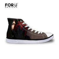 FORUDESIGNS Anime Naruto High Top Fashion Autumn Mens Vulcanized Canvas  Shoes Casual Men s Sneakers Flats High-top Boys Shoes  209676 0922ba72a