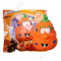 Wholesale rose toy resale online - Children Love Halloween Pumpkin for Squishy Slow Rising Kawaii kumbo Scented Squishies Squeeze toys kids fun Halloween gift