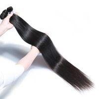 28 inç bakire saç uzatma toptan satış-28 30 32 34 36 40 Inç Işlenmemiş Brezilyalı Bakire Saç Düz Demetleri 28-40 Inç Vücut Derin Su Dalga Sapıkça Kıvırcık Saç Uzantıları