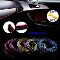 Wholesale trim interior resale online - 10M Trims Strips Accessories DIY Brand Thread Stickers Decoration and Decals D Auto Car Styling Interior Decoration Accessories Strip