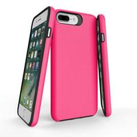 pára-choques neo híbrido venda por atacado-DOKDO Neo Híbrido iPhone 8 Plus Caso padrão Triângulo de respiração com Proteção Interna Flexível e Reforçado Quadro Bumper Duro para iPhone Xs