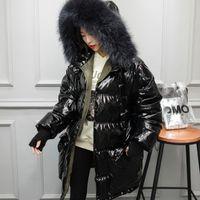 Wholesale vintage dog collar for sale - Group buy Women s Down Jacket Raccoon Dog Fur Collar Autumn Winter Coat Female Jacket Women Clothes Korean Vintage Tops ZT3813