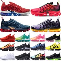 Wholesale shoes grape for sale - Group buy 2020 New Cushion TN Plus USA Black Laser Crimson Mens Running Shoes Midnight Navy Sunset Grape Women Sport Sneakers Mens Trainers Size
