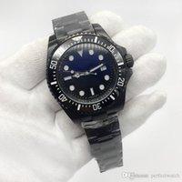 морские спортивные автоматические часы оптовых-Glide гладкая секундная стрелка DEEP серии 116660 44MM циферблат керамическая рамка оригинальный ремешок высококачественные автоматические спортивные часы морской обитатель часы