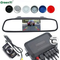 Wholesale 4.3 inch lcd tft car for sale - Group buy 3in1 Car Accessories Parking Sensor Inch TFT LCD Car Parking Monitor Car Rearview Camera Reverse Radar System