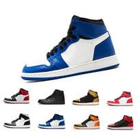 kaliteli kadın basketbol ayakkabıları toptan satış-2019 sıcak satış 1 Erkekler Basketbol Ayakkabı OG newSneaker Kaliteli Mandarin duck Eğitmenler Erkek moda lüks erkek kadın tasarımcı sandalet ayakkabı