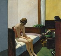 Wholesale hotel room paintings for sale - Group buy Edward Hopper Hotel Room Home Decor Handcrafts HD Print Oil Painting On Canvas Wall Art Canvas Pictures