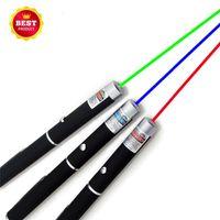 ingrosso laser blu leggero potente-Puntatori laser Grande potenza luminosa Elegante 650nm rosso blu verde Puntatore laser Penna luminosa Lazer Beam 1mW ad alta potenza