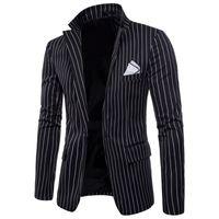 ingrosso la moda britannica per il formato più-New Mens Fashion Brand Blazer Stile britannico Casual Slim Fit Giacca uomo Maschile Cappotto Terno Masculino Plus Size 4xl T2190605