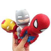 natal squishy venda por atacado-Squishy Avenger Homem de Ferro Capitão América Brinquedos Squishy lenta recuperação brinquedo Simulação de Natal engraçado de ventilação