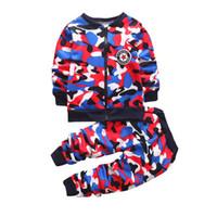ingrosso cappotti uniformi-Abiti da autunno per bambini Neonati e camicette Set per camicie + pantaloni per bambini