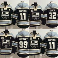 alte zeit hockey schnell großhandel-Los Angeles Kings 11 heißer Verkauf Mens Anze Kopitar 99 Wayne Gretzky 32 Schnell Beste Qualität Günstige Stickerei Logos Hockey Hoodies
