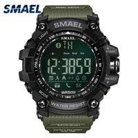 ingrosso orologi verde dell'esercito-50meters Swim Dress Sport uomo Orologi Smael dell'esercito Marca Verde Fashion Style Big Dial Orologi Uomini Digital Sport Maschio Clock 1617B