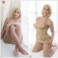 anime japanische sex liebe puppe großhandel-YRMCOLOT Japanische Silikongeschlechtspuppen Anime Big Breast Sex Doll, Realistische Ganzkörper Adult Love Doll Metallskelett, Real Vagina Oral