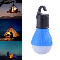mini projecteur achat en gros de-Lanterne de camping suspendue extérieure portative 3LED, lampe à ampoule LED à lumière tamisée pour la tente de camping 4 couleurs, batterie AAA (non incluse)