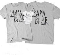çiftler giymek toptan satış-Ebeveyn-çocuk Eşleştirme T-shirt Aile Eşleştirme Kıyafetler Kısa Kollu Mektup Yuvarlak Boyun Çift Gündelik Giyim Çocuklar Romper 32