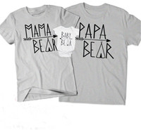 Wholesale father mother son daughter outfits for sale - Group buy Parent child Matching T shirt Family Matching Outfits Short Sleeves Letter Round Neck Couple Casual Wear Kids Romper