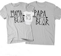 camisa crianças casal t venda por atacado-T-shirt de correspondência de pais e filhos Família combinando roupas manga curta carta em torno do pescoço casal Casual Wear crianças Romper 32