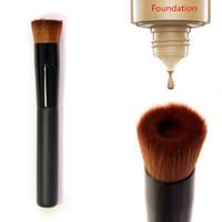 Wholesale face makeup tools online - Multipurpose Liquid Foundation Brush Pro Powder Makeup Brushes Set Wood Handle Brush Face Make up Beauty Cosmetics Tools RRA1152