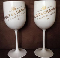 Wholesale party plastics glass resale online - Plastic wine PARTY White champagne glass MOET wine moet Glass one piece T200216