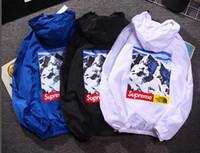 chaqueta de pasarela al por mayor-2018 marca informal chaqueta delgada chaqueta de los hombres chaqueta de la pasarela de hip hop capa de protección solar mujeres rompevientos patín bombardero protector solar chaquetas