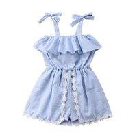 Wholesale summer clothing sale for kids resale online - Kids Dress Baby Girl Dress Hot Sale Dresses for Kids casual Clothing Baby Girl lace flowers Clothes AC705PT R