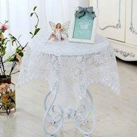 tekstil dantel toptan satış-Vintage Hollow Dantel Çiçek Masa Koşucu Dikdörtgen Masa Örtüsü Kapak Ev Bahçe Düğün Noel Dekorasyonu Ev Otel Tekstil ZJ0040