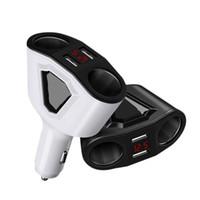 haut-parleurs bluetooth achat en gros de-12-24V allume-cigare auto double chargeur de voyage usb 5v 3.1a 120w pour sartphones bluetooth haut-parleur universel