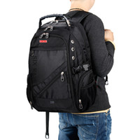 Wholesale swiss travelling bags for sale - Group buy 2019 Hot Sale Men s Travel Bag Man Swiss Backpack Polyester Bags Waterproof Anti Theft Backpack Laptop Backpacks Men Brand Bags Y19061004
