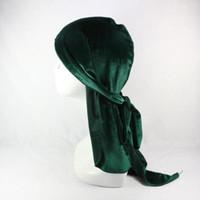 fabricación de alta calidad al por mayor-Más vendidos de moda multifuncional hijab moda de moda unisex de alta calidad de fábrica de hip hop cap terciopelo durag