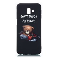 Wholesale samsung cases bear for sale – best For Samsung Galaxy J6 Plus J6 Case Back Cover Soft TPU Matte Painting Owl Feather formula Color dog Boxing Cat Easy bear