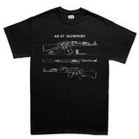 ingrosso ak 74-Camicia da uomo in cotone con stampa O Neck Ak 74 Fucile Gun Sks Maglietta sovietica con cinturino Yugo