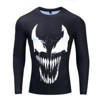 yeni marvel tişörtler toptan satış-2019 Yeni Gelmesi Popüler Marvel Film Venom T Shirt Erkek Kadın 3D Baskı Moda Uzun Kollu Tshirt Streetwear Sıkıştırma Gömlek
