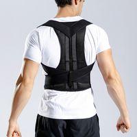 ingrosso cintura di sollievo dal dolore alla vita-Moda regolabile parte superiore della spalla supporto postura correttore corsetto colonna vertebrale tutore schiena cintura ortesi supporto schiena vita sollievo dolore M14Y