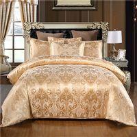 Wholesale quilt covers single beds for sale - Group buy Luxury Jacquard Bedding set Single Queen King Size Duvet Cover Set Bed Linen Quilt Cover Set
