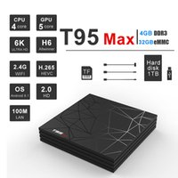 Wholesale iptv box for sale - T95 MAX Allwinner H6 Smart Android TV Box GB GB K H USB3 IPTV Set Top Box