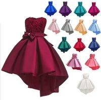 kostüm düğün önlükleri toptan satış-Kız Nedime Parti elbise Pageant Düğün Örgün Balo Yaz Moda Giyim Dans Tutu Elbise Kostüm KKA6687