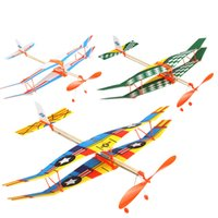 Wholesale toy aircraft wings for sale - Group buy DIY Assembled Helicopter Model Rubber Band Power Wings Gliding Aircraft Children Puzzle Aircraft Model Stitching Toys